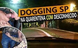 Cristina Almeida brincando na quarentena com desconhecido no Dogging.