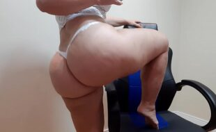 dança sensual langerie branca com nudez/ sensual white lingerie dance with nudity / write on my channel