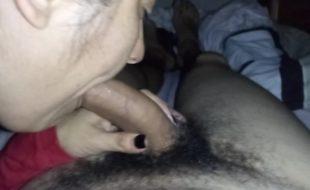 Mamada profunda se toma toda la leche