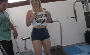 Milena Santos fudendo na academia