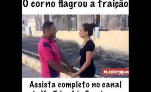 O CORNO GAGO FLAGROU A TRAIÇÃO